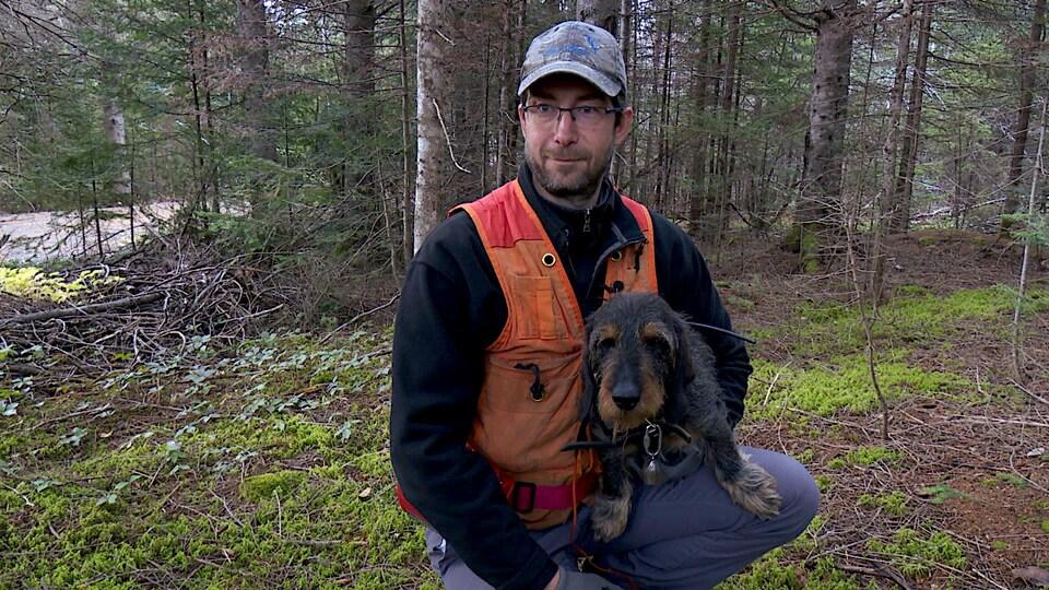 Le maître et son chien.