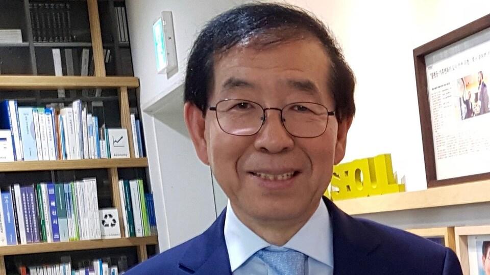 Park Won-soon, maire de Séoul, en mai 2017