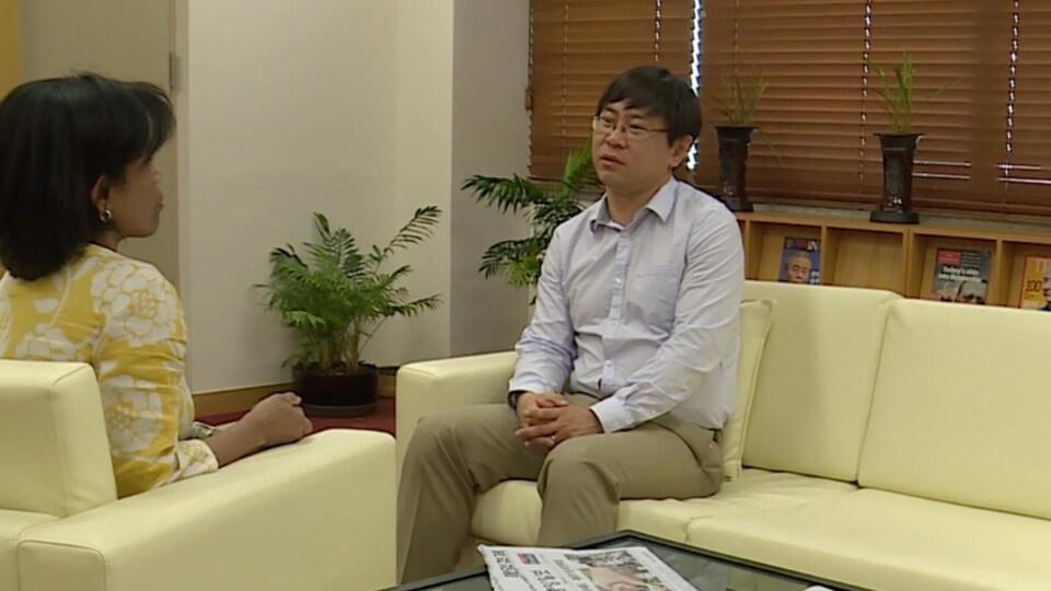 Park San-in, économiste, en entrevue à l'Université nationale de Séoul en mai 2017.