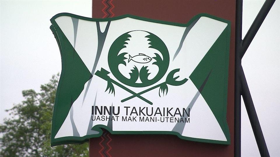 Affiche du conseil de bande de Uashat mak Mani-utenam.