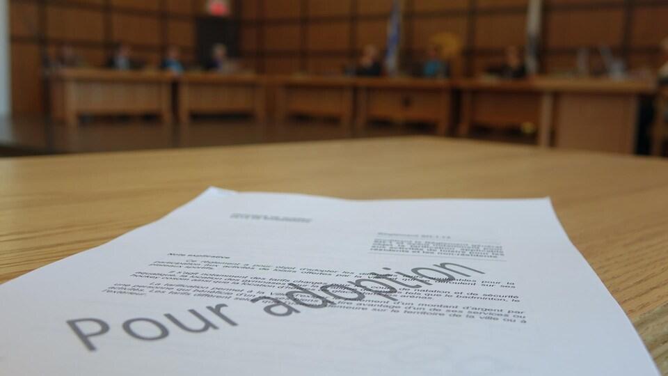 Séance du conseil municipal à Shawinigan