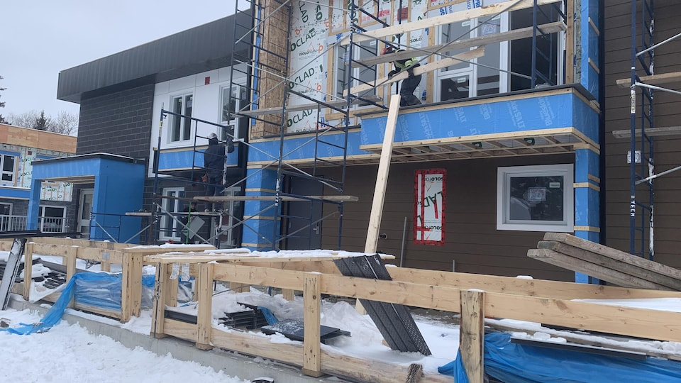 Un chantier de construction à Saguenay.
