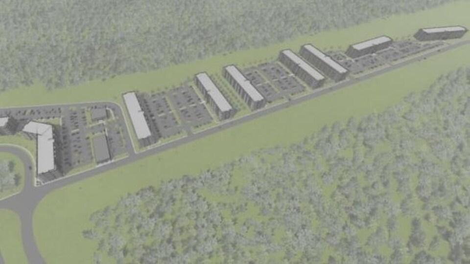 Un plan d'aménagement de la propriétaire sur 11 hectares.