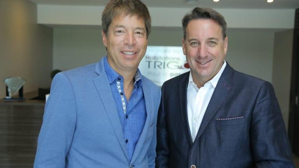Deux hommes, les fondateurs de la compagnie Habitations Trigone