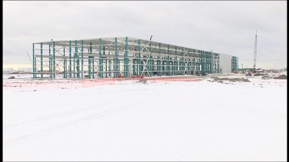 Construction de l'usine Enercon vers 2009-2010.