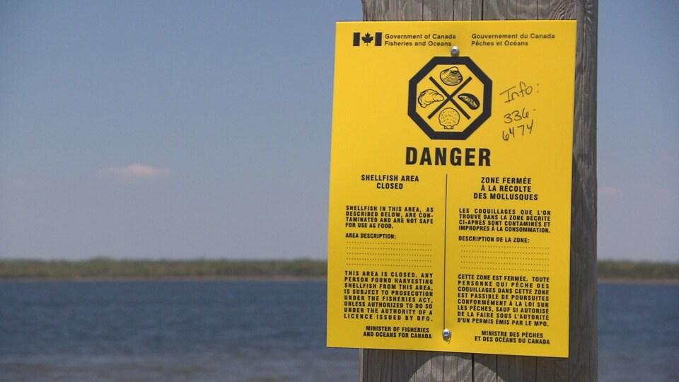Depuis quelques mois la pêche aux coques est interdite dans la baie Saint-Simon en raison du trop haut taux de bactéries présentes dans l'eau.