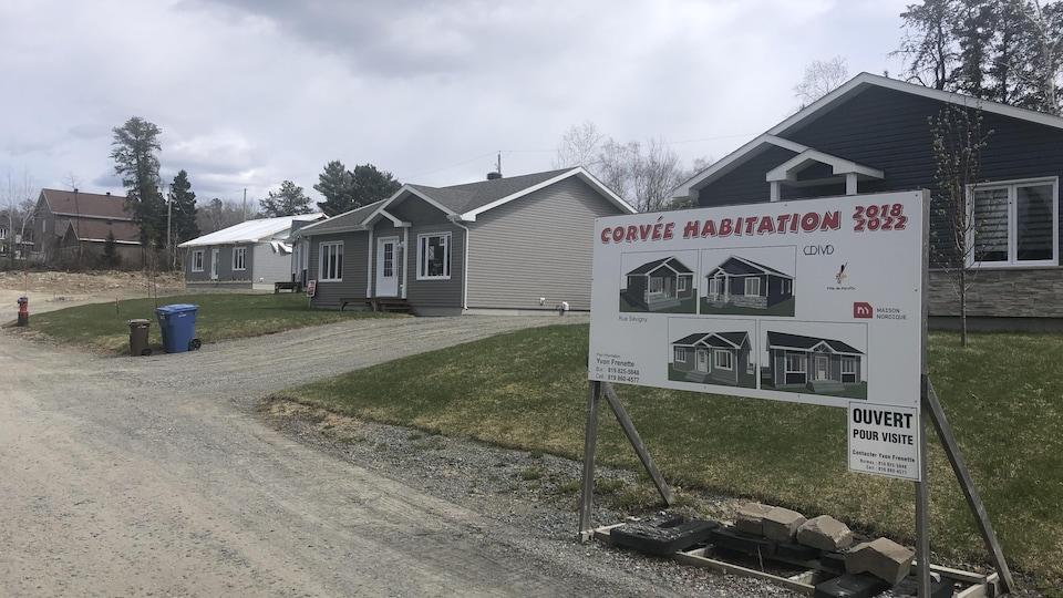 Les maisons du projet Corvée habitation 2018-2022.