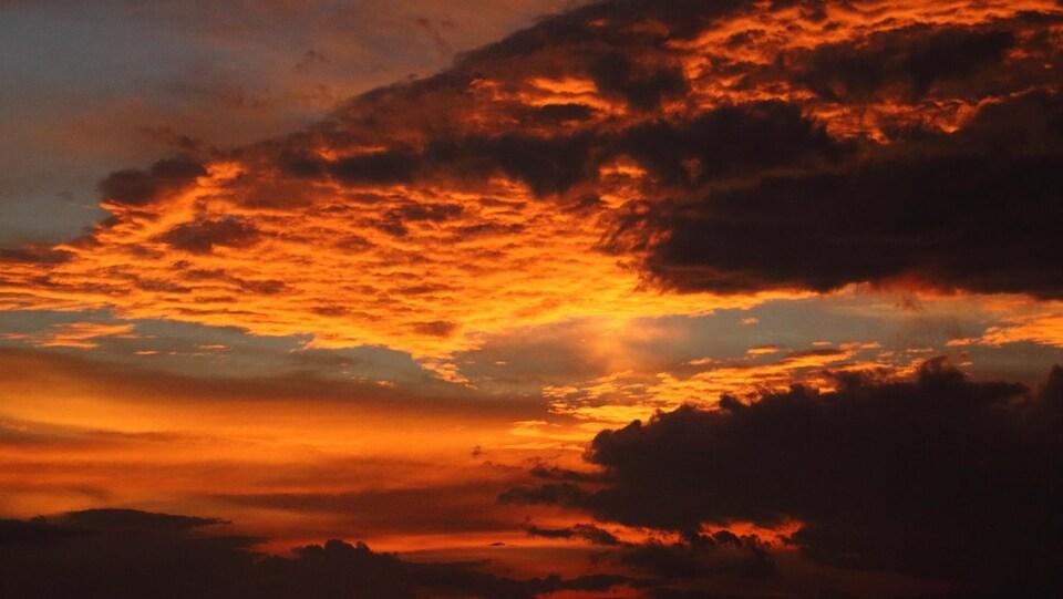 Coucher de soleil à l'île d'Orléans