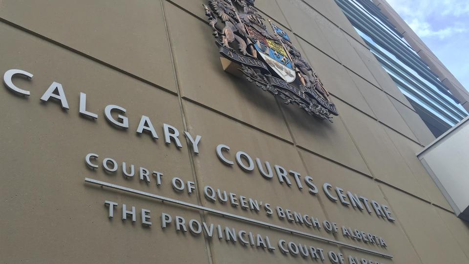 L'extérieur du palais de justice à Calgary.