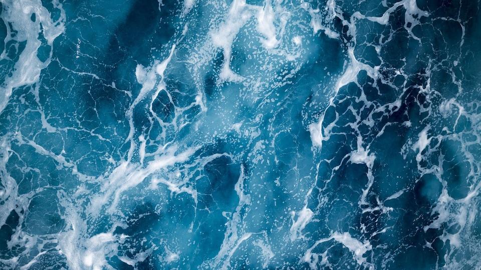 Des courants dans l'océan.