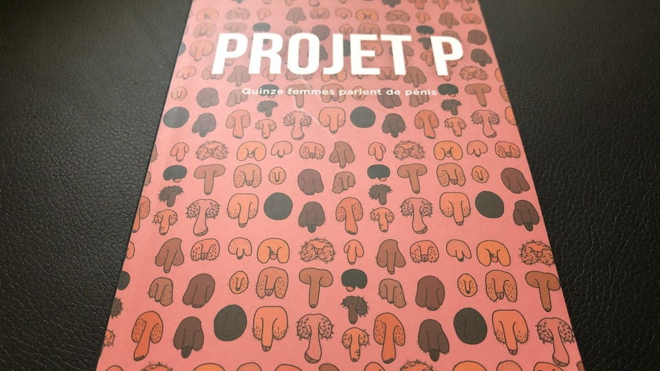 Différents pénis sont illustrés sur la page couverture sur un fond rose.