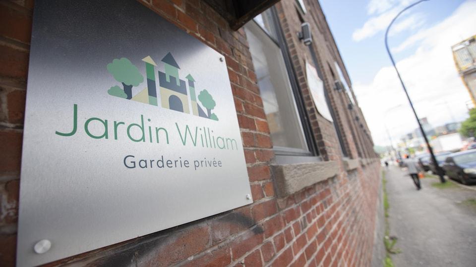 Le panneau du Jardin William.