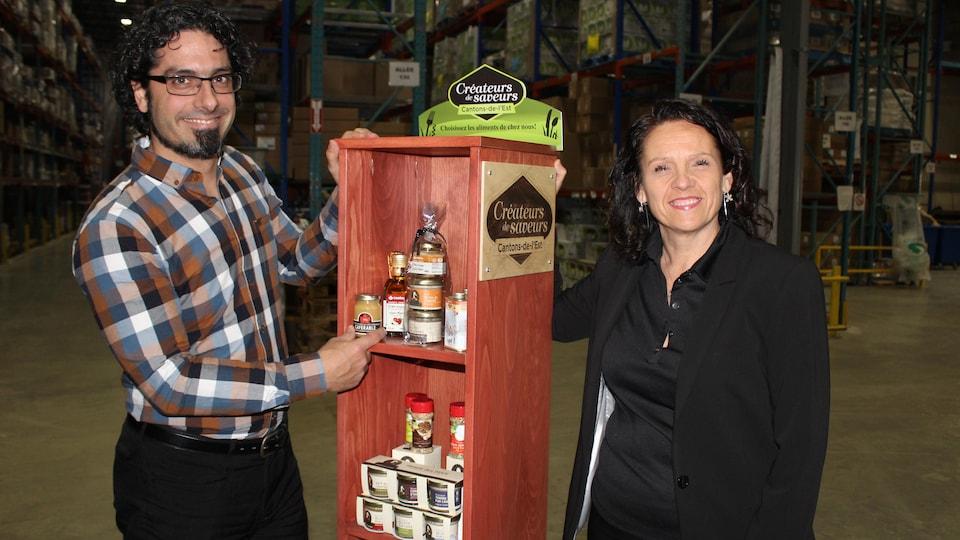 Des produits des Cantons-de-l'Est se retrouveront sur les tablettes de boutiques montréalaises.