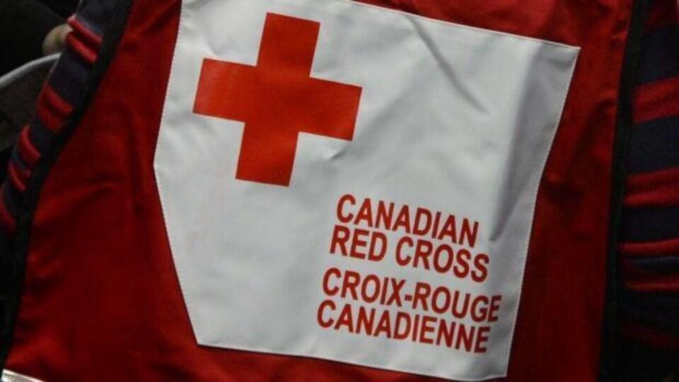 Le logo de la Croix-Rouge.