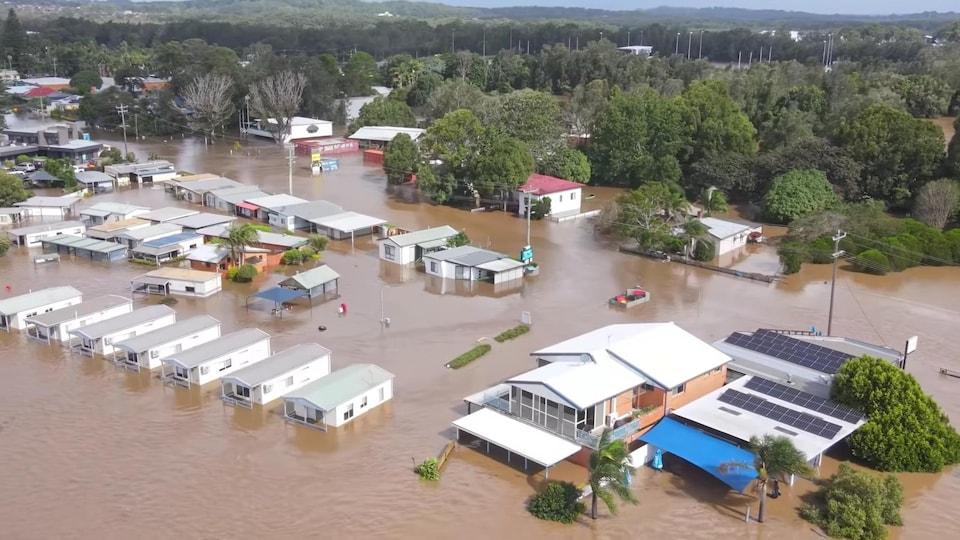 Port Macquarie inondée.