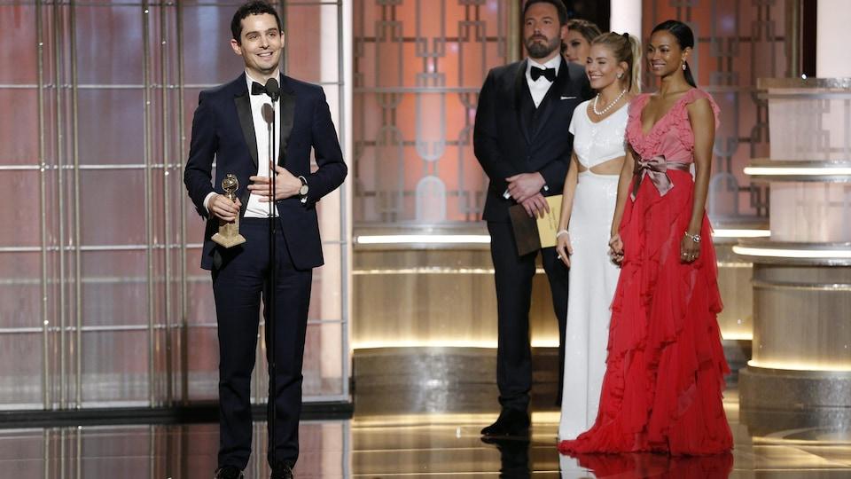 Le réalisateur et scénariste du film «La La Land», Damien Chazelle, aux 74e Golden Globes