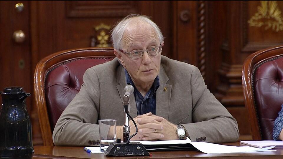 Daniel Baril s'exprime lors des consultations particulières sur le projet de loi 21.