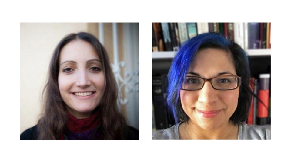 deux photos portrait de deux femmes.