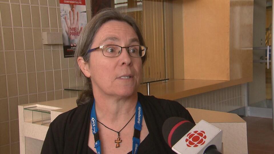 Danielle Giguère, ergothérapeute à l'Institut de réadaptation en déficience physique de Québec