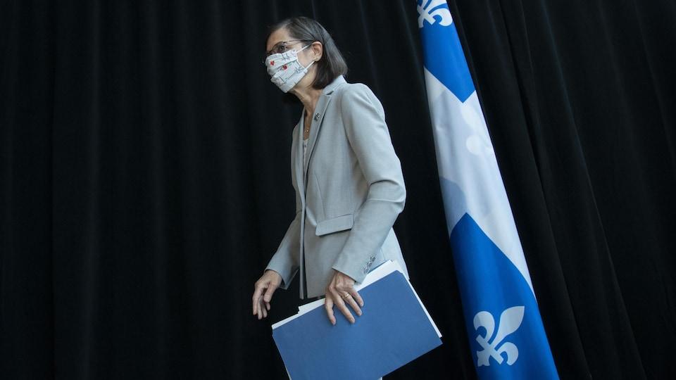 Danielle McCann à son arrivée pour son point de presse.