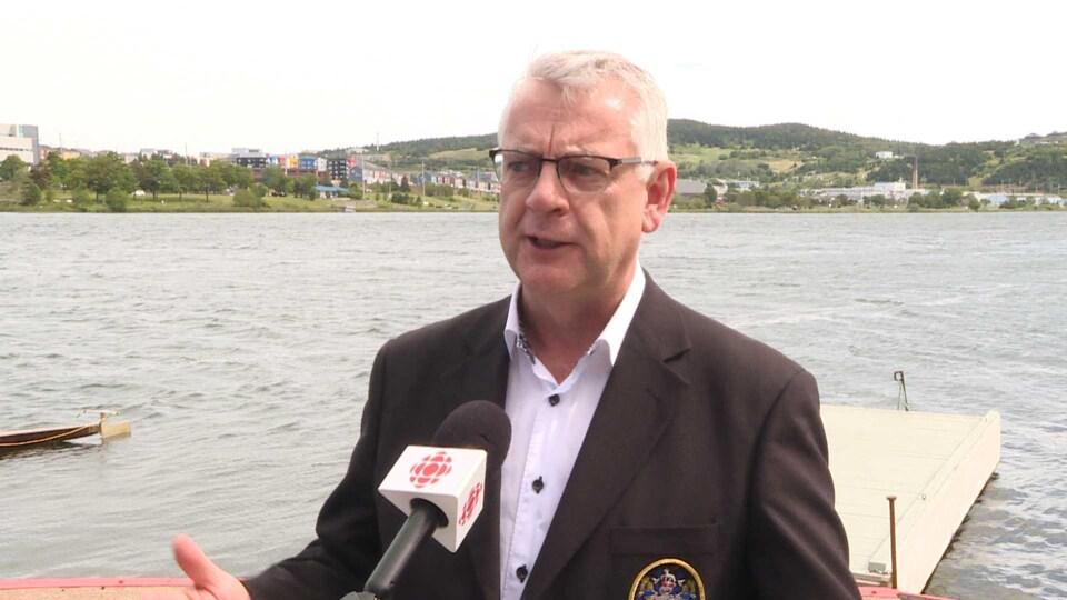 Danny Breen, maire de Saint-Jean de Terre-Neuve.