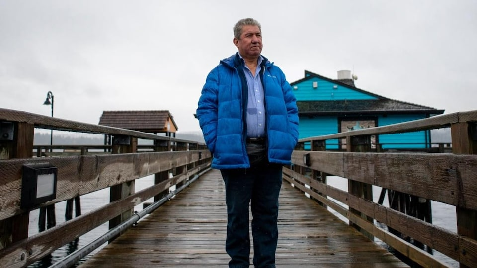 Le chef de la Première Nation Homalco, Darren Blaney.