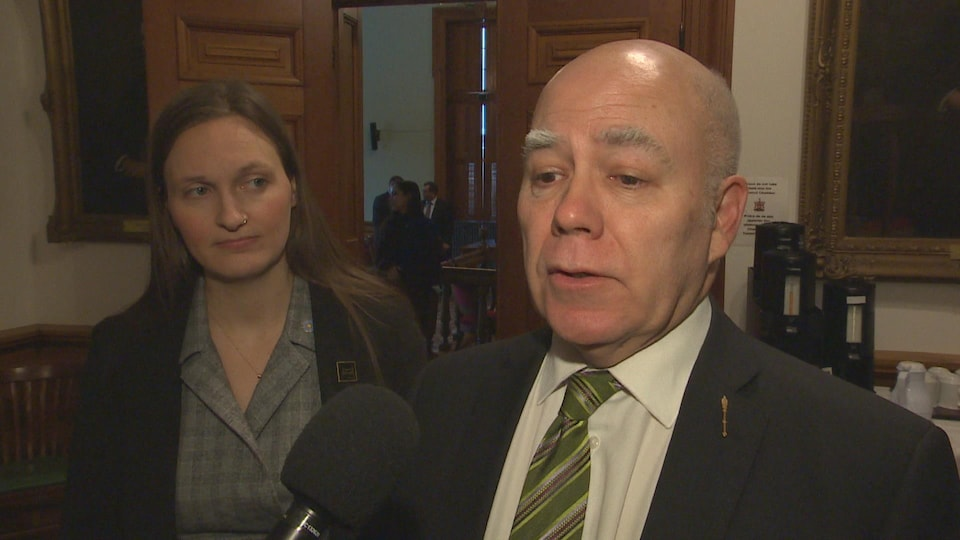 Le chef du Parti vert du Nouveau-Brunswick, David Coon.