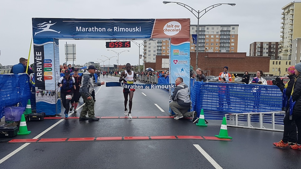 Le gagnant du Marathon de Rimouski 2019, David Murai.