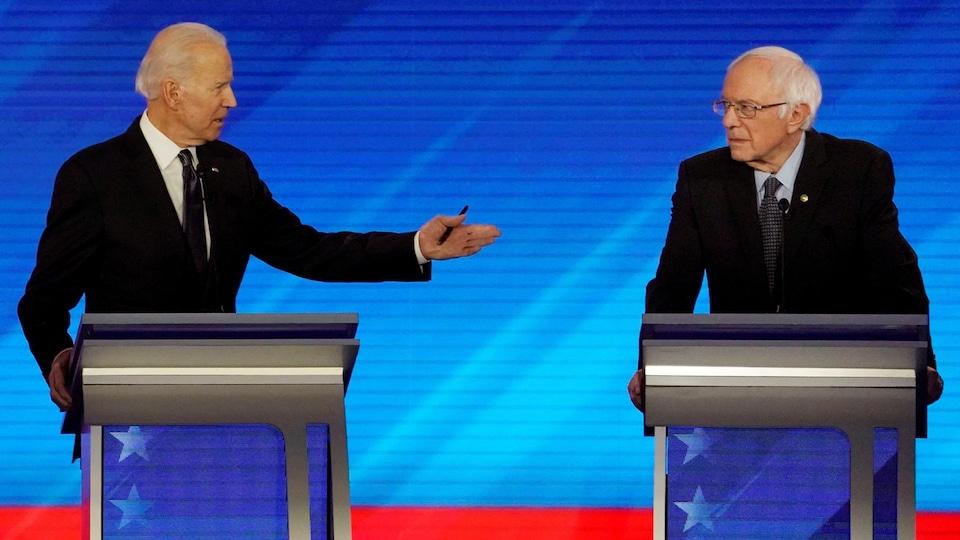 Joe Biden et Bernie Sanders.