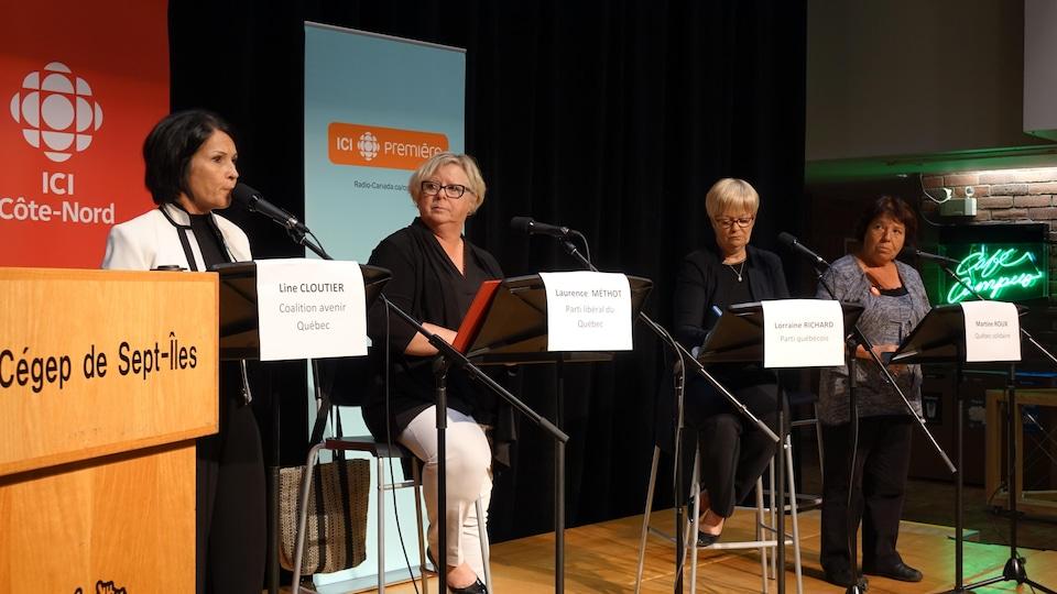 Les candidates de la circonscription de Duplessis