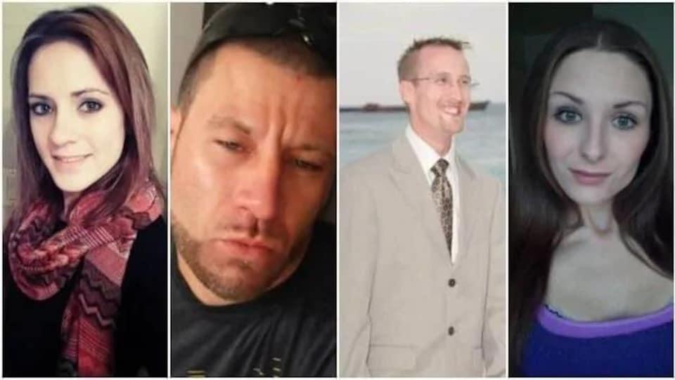 Montage photo des quatre personnes ayant perdu la vie dans les prisons de Terre-Neuve-et-Labrador d'août 2017 à juin 2018.