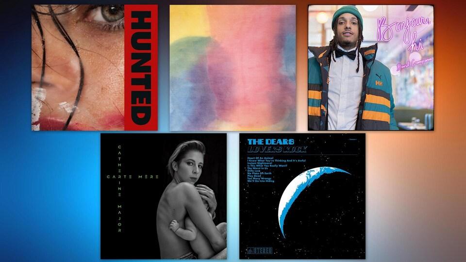 Montage des albums suggérés dans la chronique.