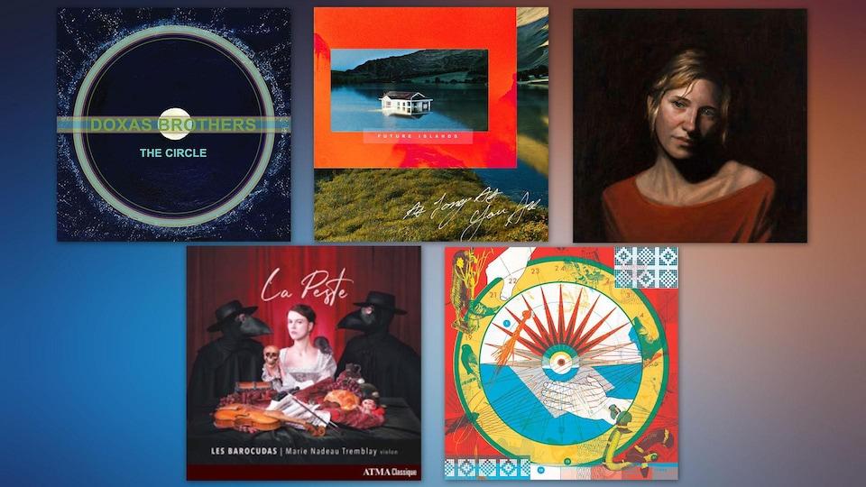 Montage des albums suggérés cette semaine.