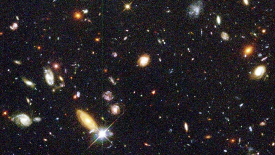 Des myriades de galaxies sur un fond noir.
