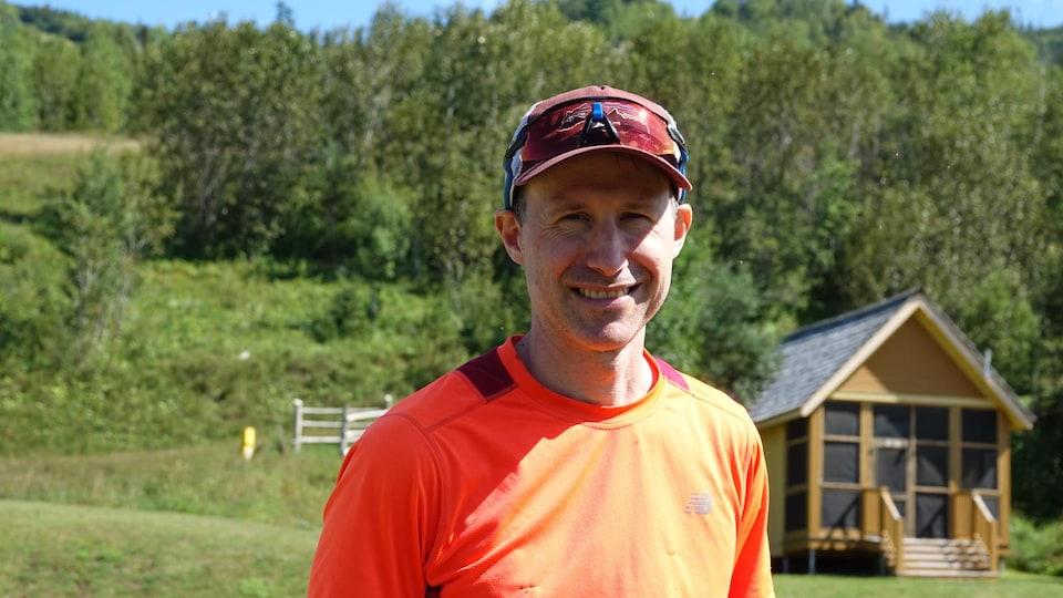 Antoine Richard, président du Club de courses d'aventure et d'orientation de la Gaspésie et un des organisateurs du Défi.