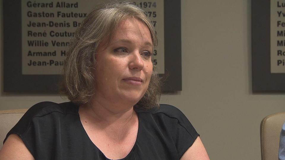 Isabelle Painchaud raconte avec émotion comment son collègue est mort.