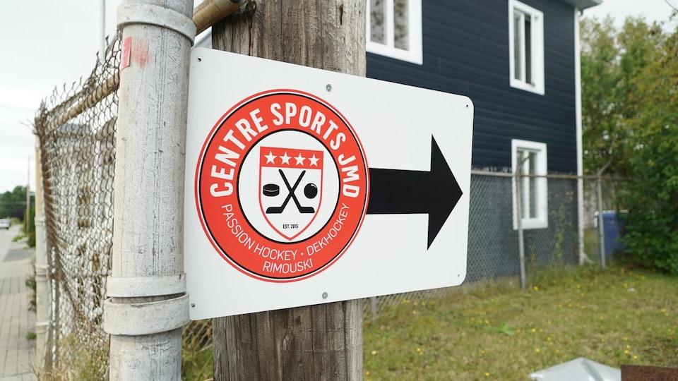 Le logo du Centre sports JMD à Rimouski.