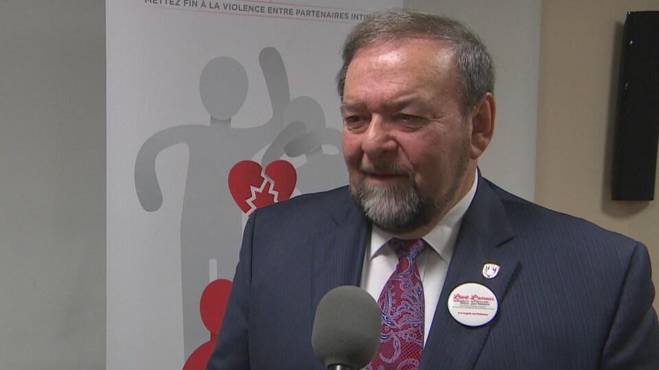 Le ministre de la Justice et de la Sécurité publique du Nouveau-Brunswick, Denis Landry