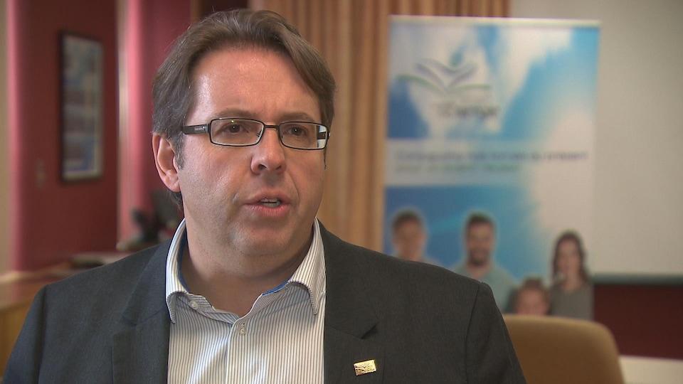 Denis Lemaire, directeur général de la Commission scolaire de l'Énergie.