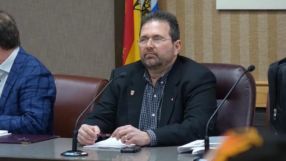 Le maire de Tracadie, Denis Losier, le 24 février 2019.