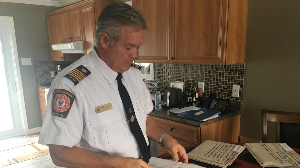 Denis Savoie, ex-chef pompier de Tracadie