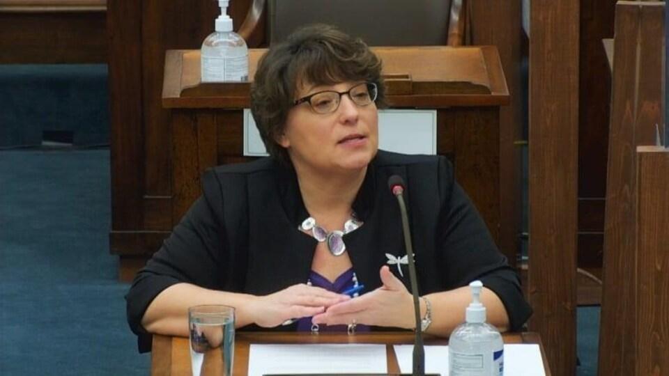 Denise Doiron à l'Assemblée législative.