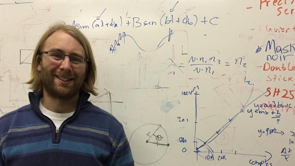 Deny Hamel, professeur au Département de physique et d'astronomie  de l'Université de Moncton