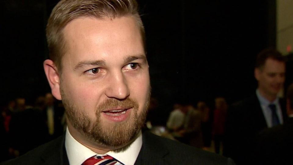 Le député indépendant Derek Fildebrandt