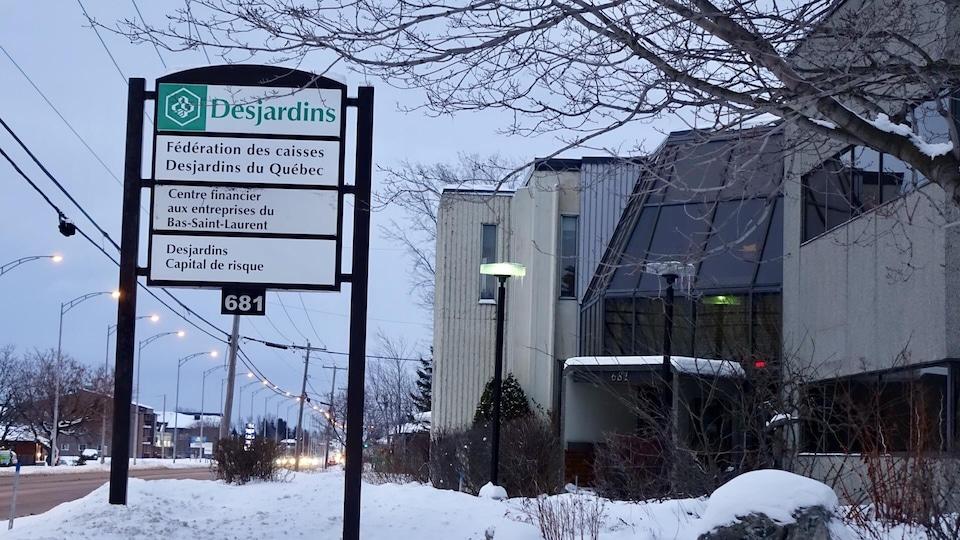Les locaux du centre financier aux entreprises de Desjardins, à Rimouski