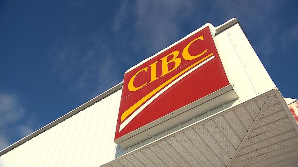 La devanture de la succursale CIBC de Port-Cartier.