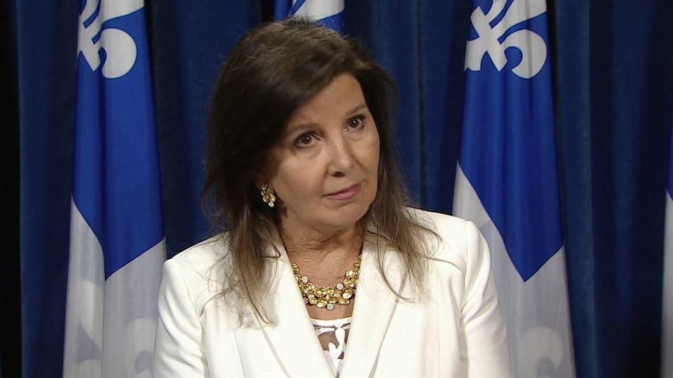 La critique du Parti québécois en matière de Santé, Diane Lamarre.