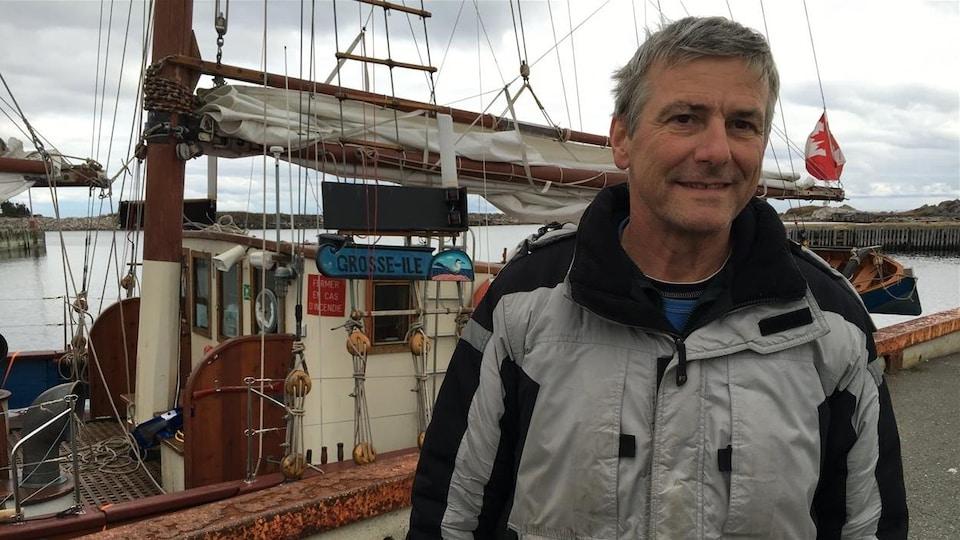 Didier Épars, capitaine de la goélette Grosse-Île