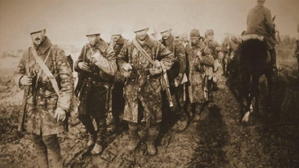 Des soldats lors de la Première Guerre mondiale