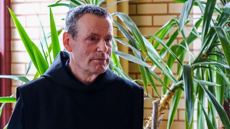 Dom Dominique Minier, responsable de l'hôtellerie à l'Abbaye de Saint-Benoît-du-Lac